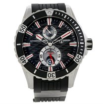 Ulysse Nardin Maxi Marine Diver Black Dial Rubber Watch...
