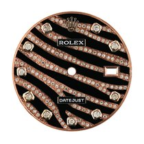 Rolex 36mm Rose Gold Zebra Design Diamond Set Custom Dial