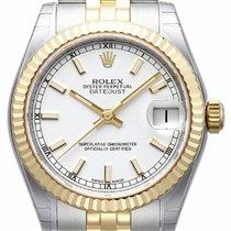Rolex Datejust 31 Edelstahl Gelbgold 178273 Weiß Index...