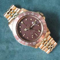 Rolex 1973 Vintage Yellow Gold GMT Root Beer Brown Dial Mint