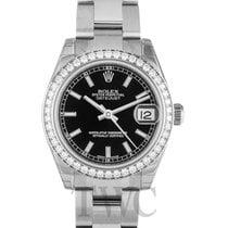 롤렉스 (Rolex) Datejust Lady Midsize Black/White Gold - 178384
