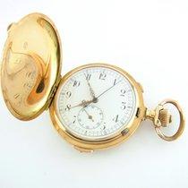 Taschenuhr Savonette 1/4 Stunden Repetition 585er Gelbgold...