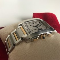 Cartier Tank Française Chronoflex 18K Gold Steel 2303