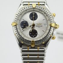 Breitling 80's Chronomat Two Tone Black Eye Silver B13048...