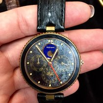 Gérald Genta Gefica Sahara Moon-phase 18k Yellow Gold Quartz...