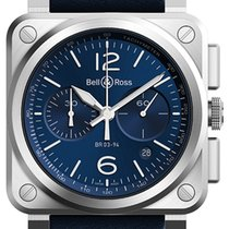 Bell & Ross BR03-94 Chronograph 42mm BR03-94 Blue Steel