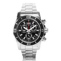 Breitling Superocean Chronograph M2000 Black Mens Watch...