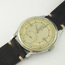 Omega Vintage Uhr Sammleruhr Bj 1936 Edelstahl 37.3 Mm Manual...