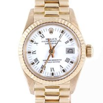 Rolex Ladies Yellow Gold President - White Roman Dial - 6917