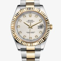 Rolex DATEJUST II 41mm 18K Yellow Gold Ivory Diamond Dial