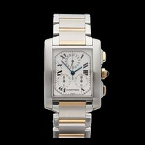 Cartier Tank Francaise Chronoreflex Stainless Steel & 18k...