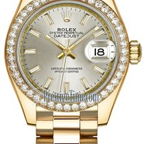 Rolex Lady Datejust 28mm Yellow Gold 279138RBR Silver Index...
