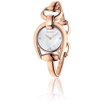 Gucci Horsebit Cadran Nacre Blanche 28 mm Acier Or rose YA139508