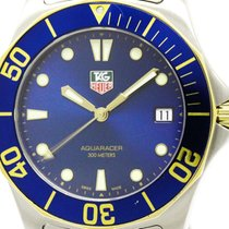 TAG Heuer Polished Tag Heuer Aquaracer Gold Plated Steel Mens...