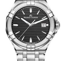 Maurice Lacroix Aikon Quartz Steel Bracelet Black Dial 42mm