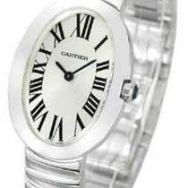 Cartier Baignoire Oval Silver Dial Quartz Women 18kt WG Watch...