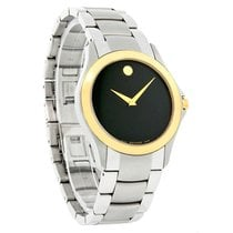 Movado Military Mens Two-Tone Swiss Quartz Dress Watch 0605871