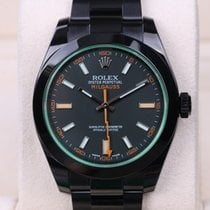 Rolex Milgauss Black PVD/DLC Steel Green Crystal 40 mm 116400GV