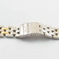 Breitling Pilot Armband Stahl/gold 15mm Callistino Top Zustand...