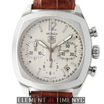 TAG Heuer Monza Chronograph Caliber 17 Steel 37mm Silver Dial