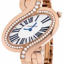 Cartier Delices De Diamond 18k Rose Gold Quartz Women Watch...