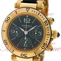 Cartier Pasha Seatimer Chronograph, Black Dial - Yellow Gold...