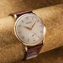 BUREN 9 ct gold vintage dress watch