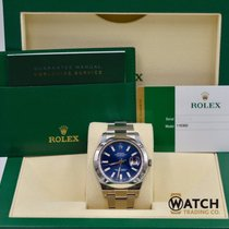 Rolex Unworn Datejust II 116300 Blue Index Dial