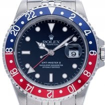 Rolex GMT Master II rot blaub Pepsi Stahl Automatik Armband...