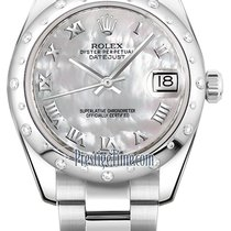 Rolex Datejust 31mm Stainless Steel 178344 White MOP Roman Oyster