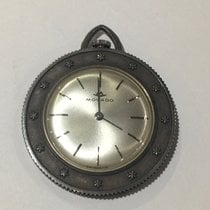 Movado Rare Sterling  St Christoper Silver Coin  Pocket Watch...