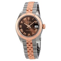 Rolex Lady Datejust Chocolate Dial Diamond Automatic Watch