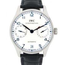 IWC Portoghese Iw500107 Steel, Leather, 42mm