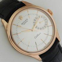 ロレックス (Rolex) Cellini Date 39mm 18k Rose Gold 50515 Silver Dial