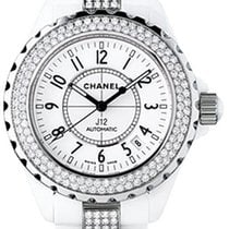 Chanel J12 Diamonds and Ceramic Automatic Unisex Watch H1422