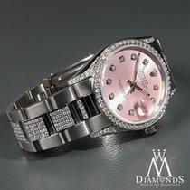 Rolex Ladies Diamond Rolex Datejust 16200 36mm Stainless Steel...