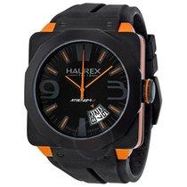 Haurex Italy Athenum Black and Orange Ion-plated Men's Watch