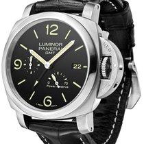 Panerai Luminor 1950 3 Days GMT Black Leather Automatic...