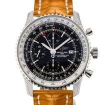 百年靈 (Breitling) Navitimer World 46 Chronograph Black Dial...