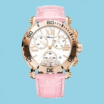 Chopard Happy Sport 42 mm Chrono Leder Rosa -NEU-