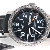 Fortis B-42 Marinemaster Day-Date 647.10.158 Custom 3.5 ct...