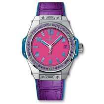Hublot 39mm Big Bang One Click Pop Art Steel Purple Watch