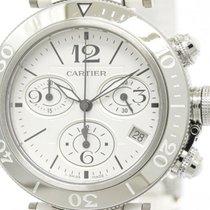 Cartier Polished Cartier Pasha Seatimer Steel Quartz Mid Size...