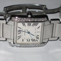 Cartier Tank Francaise Stainless Steel Automatic Diamond