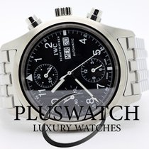 IWC Pilot Chronograph Day Date Black Dial 3571 JUST SERVICED
