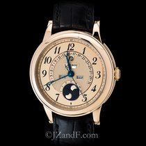 L.Leroy Men's Watch Osmior 18K Rose Gold Retrograde Perpetual...