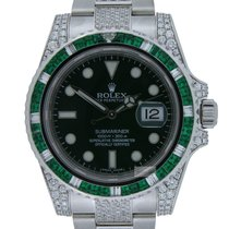 Rolex Submariner Hulk Diamond and Emerald Custom Made