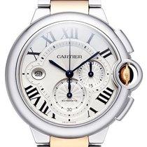 Cartier Ballon Bleu de Cartier Chronograph Edelstahl / 18 kt...