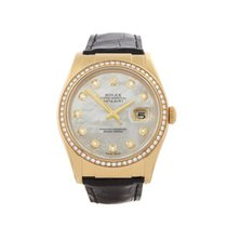 Rolex Datejust 18k Yellow Gold Unisex 116188