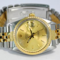 Rolex Oyster Perpetual Date Two Tone 18kt YG/SS Jubilee - 15053